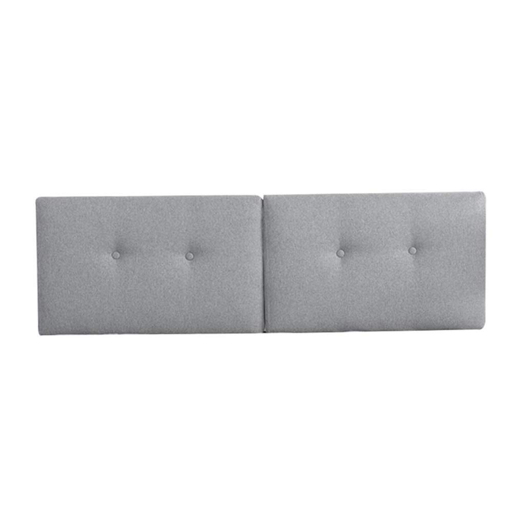 ZHWNGXO Linen Triangle Wedge pad backrest Positioning Support Pillow Reading Pillow Home Office Waist pad with Removable Pillowcase (Color : Gray, Size : 100 × 50 × 10cm (Single)) by ZHWNGXOlian