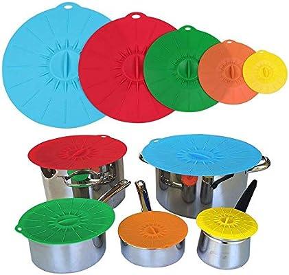 Tapa universal, redonda, de silicona, reutilizable y hermética ...