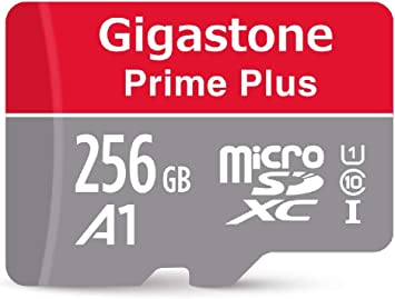 Gigastone 256GB Micro SD Card with Adapter, A1 V10 Run App for Smartphone, High speed Full HD available, Micro SDXC UHS-I U1 C10 Class 10 Memory Card