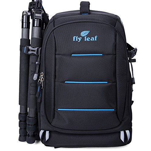Access Bag (FLYLEAF Waterproof Camera Backpack SLR DSLR Travel Rucksack Laptop School Bag (Black))