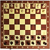 Classic Wooden Chess Set Board – Folding Boards With Storage Bags and Genuine Intricately Carved Wood Pieces Great for Adults and Kids – For Home and Travel - Creatov