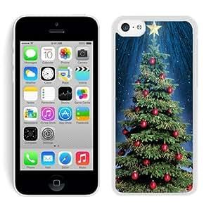 Iphone 5C Case,5C cases,Christmas tree Iphone 5C Case White Cover