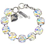 """Mariana """"On A Clear Day Large Tennis Bracelet, Silver Plated, 8"""" 4438 001AB"""