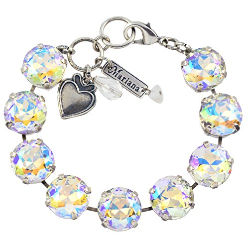 Mariana On A Clear Day Large Tennis Bracelet, Silver Plated, 8 4438 001AB