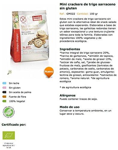 mini cracker de trigo sarraceno sin gluten - Germinal - 100g: Amazon ...