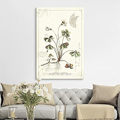 Fascinating Print, Vintage Style Plant with Butterfly, Created Just For You