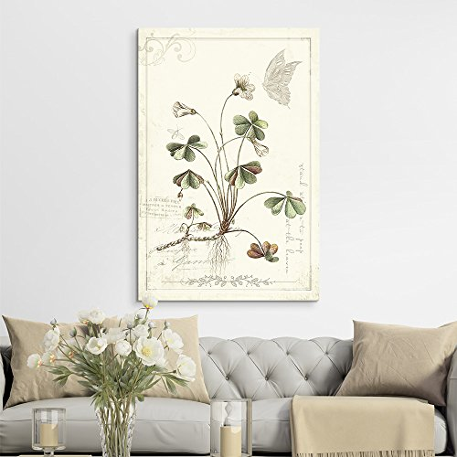 Vintage Style Plant with Butterfly
