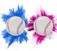Gender Reveal Baseball Package - 2 Baseballs (1 Blue Ball, 1 Pink Ball) Exploding with Powder - Surprise for B