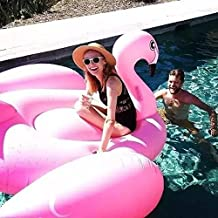 Inflatable Flamingo Floating Bed Swimming Pool Sandy Beach Lake Water Inflatable Floating Row Sports Outdoor Toy Raft Lounger (190*130*190cm, Pink)