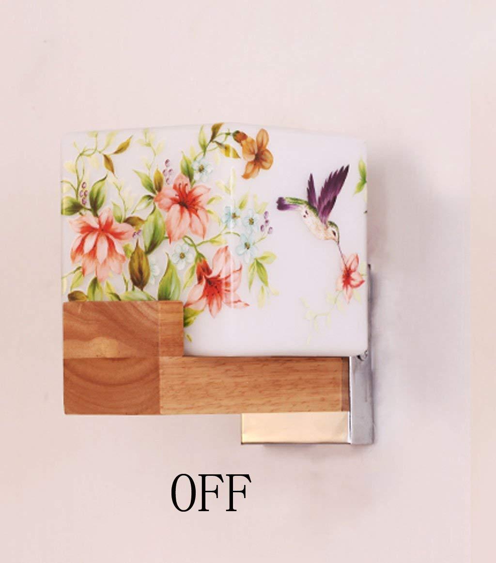 Wandleuchte Licht Einfache Holz Bett Wohnzimmer Schlafzimmer Flur Wandleuchte Nordic kreative Flur wand Lampe (Stil  A)