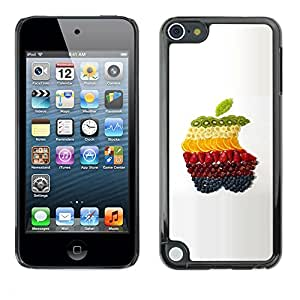 Soft Silicone Rubber Case Hard Cover Protective Accessory Compatible with Apple IPod Touch 5 - Fruit Macro Apple Fruits