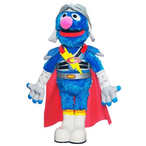 Sesame Street Flying Super Grover Plush Doll]()