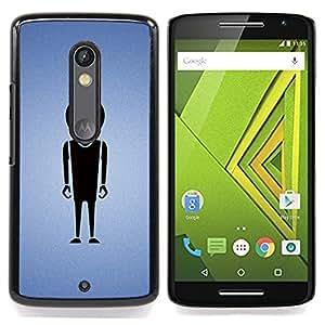 Minimalist Alien Caja protectora de pl??stico duro Dise?¡Àado King Case For Motorola Verizon DROID MAXX 2 / Moto X Play