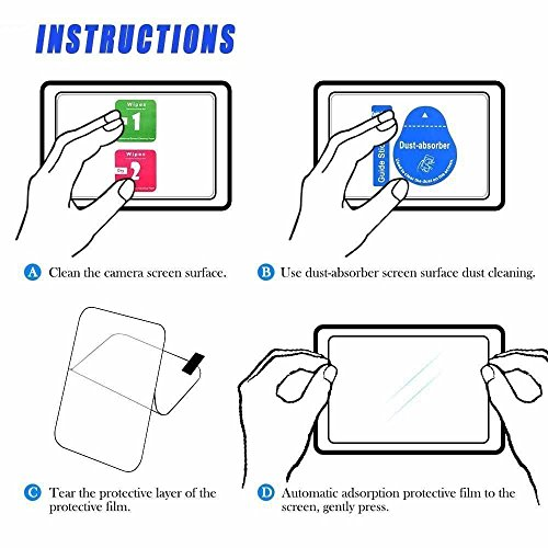 Screen Protector Compatible with Sony RX100VI RX100III RX100II RX100 IV V RX100VI RX 1R a7RIII A7R3 A9 A7II A7RII A7SII A77II A99II Camera, QIBOX LCD Anti-scratch 9H Tempered Glass Shield [3 Packs]
