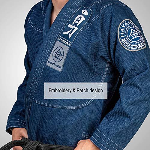 Hayabusa BJJ Gi | Adult | Goorudo 3 Gold Weave Jiu Jitsu Gi | Blue A2
