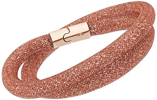 Around Swarovski Wrap Bracelet (Swarovski Stardust 5089853 Vintage Pink Crystals double wrap Bracelet - M)