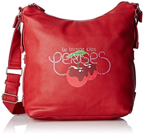 Le Temps des Cerises Deny 4 - Bolso al hombro para mujer Rouge (Cerise Af21)