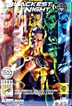 Dc Direct Green Lantern - DC Direct Green Lantern Blackest Night 2009 SDCC San Diego ComicCon Exclusive Action Figure Hal Jordan YELLOW Lantern