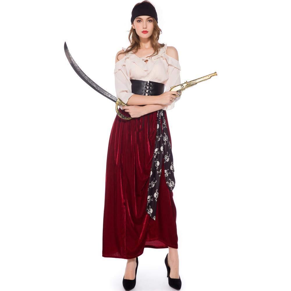 fagginakss Disfraz de Mujer Pirata Vestido Traje Set con Falda ...