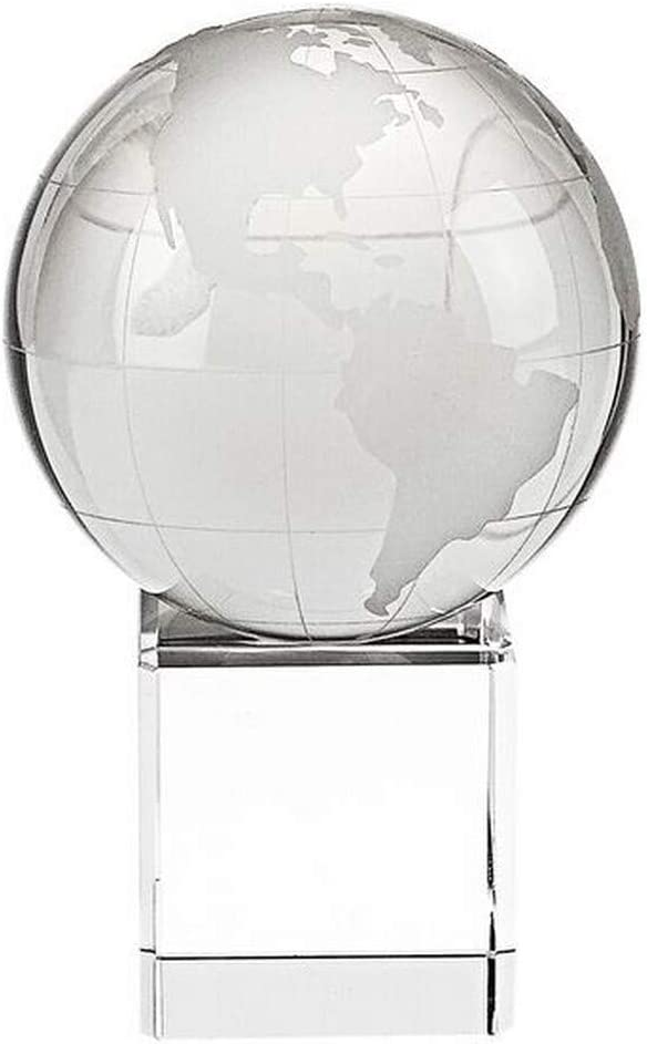 Amazon Com Homeroots Clear 5 Mouth Blown Hand Crafted Globe On Crystal Stand Furniture Decor