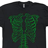 Search : Shirtmandude T-Shirts Green Skeleton T Shirt Spinal Bones Shirts Ribs and Spine Tap Volume Goes To 11 Donnie Vintage Punk Tee