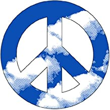 "Clouds Peace 4"" Car/Refrigerator Magnet"