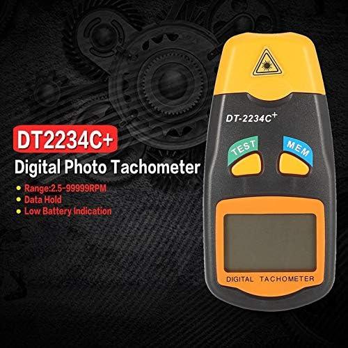 Handheld LCD Digitaler Mini ber/ührungsloser Laser-Foto-Drehzahlmesser Drehzahlmesser Tachometer 2,5~99999 U//min-Grau /& Orange DT2234C