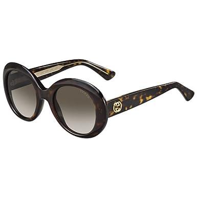 Gucci - Lunette de soleil - Femme Marron Brun beige, motif tâcheté ... 04a3dfaa70fb