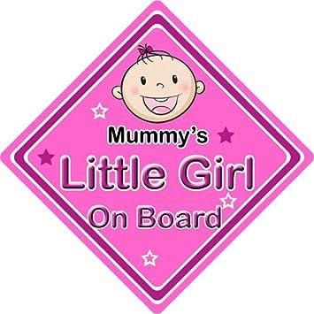 Kfz Schild Aufschrift Mummys Little Girl Personalisierbar Pink Baby