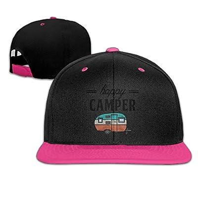 Rock Punk Trucker Hats Happy Camper Unisex Baseball Cap Hip-hop Snapback Pink