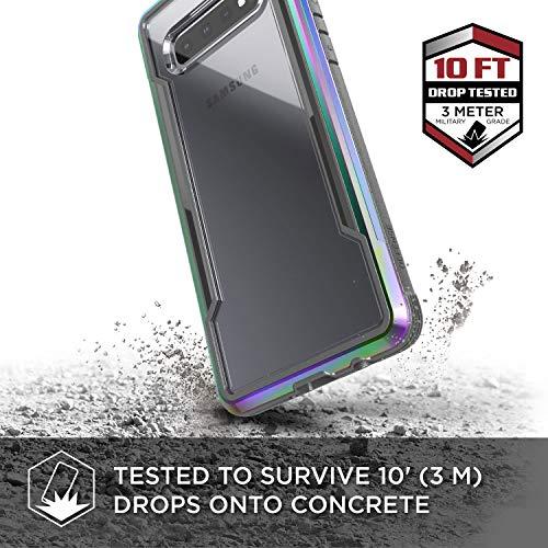 X-Doria Defense Shield, Samsung Galaxy S10e Phone Case - Military Grade Drop Tested, Anodized Aluminum, TPU, and Polycarbonate Protective Case for Samsung Galaxy S10e, (Iridescent)