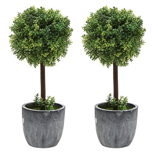 Realistic Artificial Boxwood Topiary Tabletop