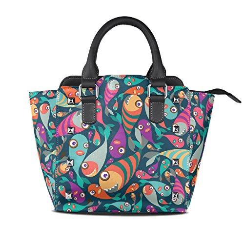 En Haut Cuir Sacs Poissons De Collection poignée Multicolore À Femmes Coosun Moyen Main Tropical Bandoulière Pu Sac Belle Pw7q4cx0v