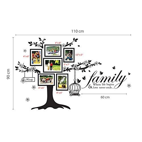 Walplus Wand Sticker Deko Papier Kunst Foto Rahmen Vogelkäfig Family ...