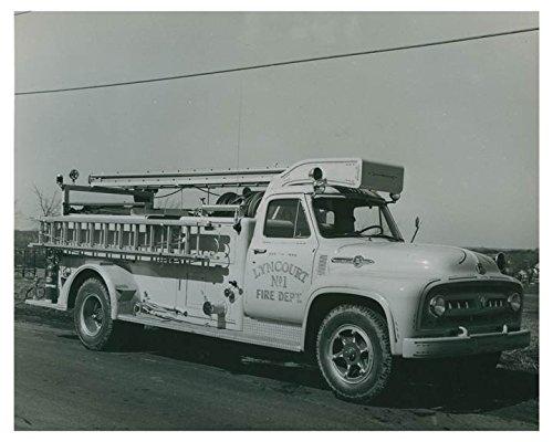 1953 Ford Sanford Syracuse NY Fire Truck Factory Photo Lyncourt NY