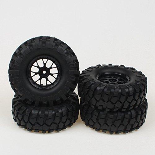 Plastic 12mm Hub Y Shape Wheel Rim & 95mm Tires for RC 1:10 Off-Road Crawler Car