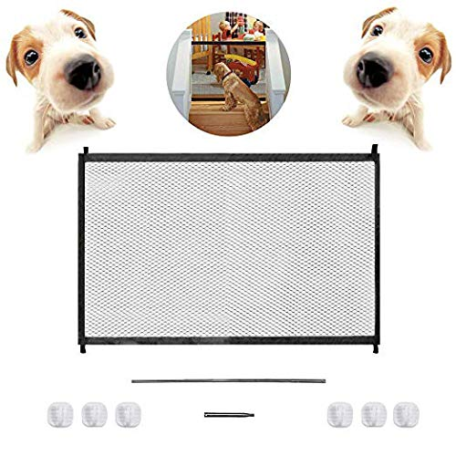 43.3''x28.3''Magic Dog Gate,Portable Folding Pet Safety Gate,Baby Safety Fence for House Indoor Stair/Doorway Use by Bedtime Originals (Image #4)