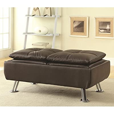 Coaster Home Furnishings Contemporary Ottoman, Brown/Brown