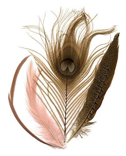 Zucker Feather (TM) - Peacock-Pheasant-Goose Mix - CHP/Gird/N