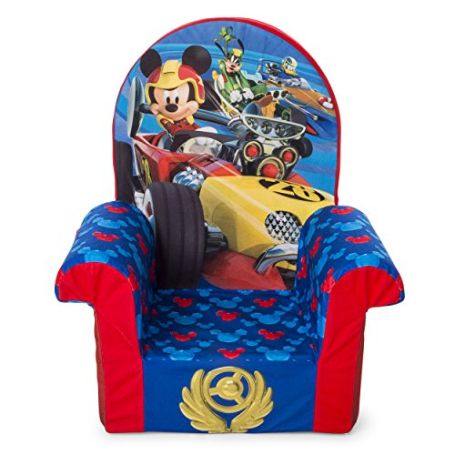 (Marshmallow Furniture, Children's Foam High Back Chair, Disney Mickey Mouse Roadsters High Back Chair)