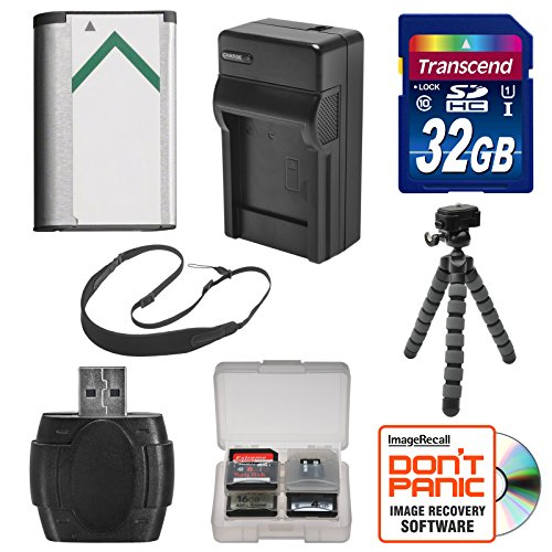 NP-BX1 Battery & Charger + 32GB SD Card, Tripod & Strap Essential Bundle for Sony Cyber-Shot DSC-H400, HX350, HX400V, HX80, RX1R, RX100 II III IV V VI, WX300, WX350 Cameras -  MANUFACTURER, K-89412-03