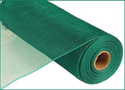 10 inch x 30 feet Deco Poly Mesh Ribbon  Value Mesh Emerald Green