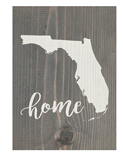 - P. GRAHAM DUNN Florida State Home Grey 5.5 x 7.5 Solid Wood Barnhouse Block Sign