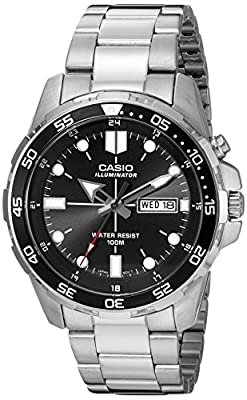 Casio Men's MTD-1079D-1AVCF Super Illuminator Diver Analog Display Quartz Silver Watch from CBJH9