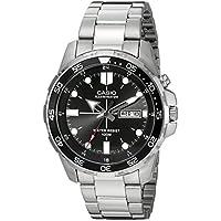 Men's MTD-1079D-1AVCF Super Illuminator Diver Analog Display Quartz Silver Watch