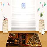 HAIXIA Soft Rug The atmosphere of celebration was everywhere in the coming Christmas for Dining Room Bedroom Home Decor
