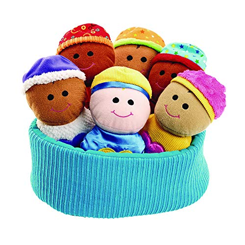 Basket of Sensory Babies 7 Babies Multicultural Toy for Kids (7-1/4