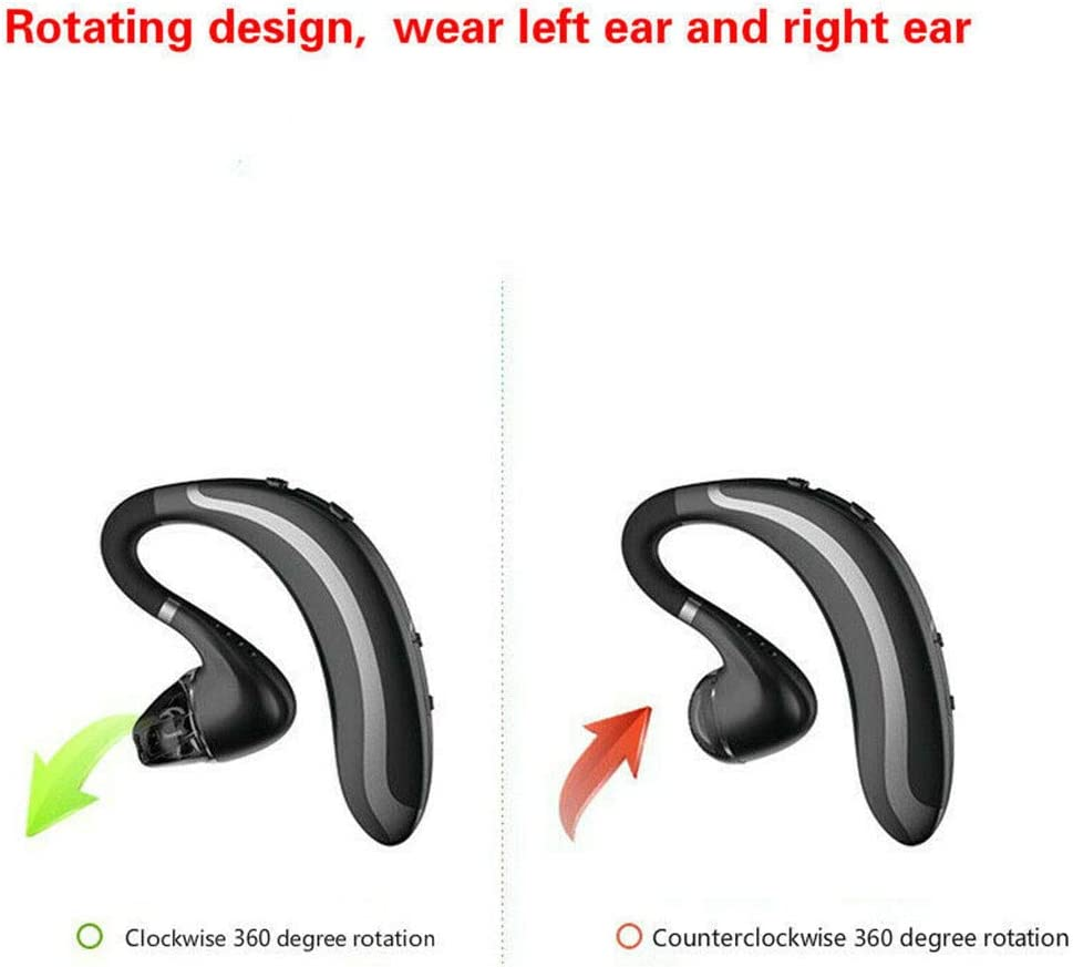 Black KimBird Bluetooth 4.1 Headset,Wireless Business Noise Reduction Earpiece Headphones,Ultralight Hands-Free Earphones,S108 Business Handsfree Headset with Microphone for Phone//Laptop//Car