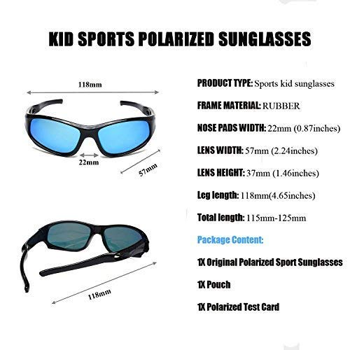e9a879caff YAMAZI Children Sports Polarized Sunglasses For Kids Boys Girls Rubber  Flexible Frame Sunglasses UV Protection