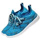 Men's Lightweight Running Shoes Slip On Sneakers Outdoor Breathable Athletic Shoes (9.5 D(M) US, Blue-062)